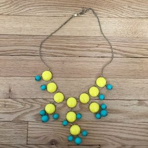 Jewelry - Bib necklace yellow and blue/green